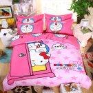 Twin Size 3pcs Hello Kitty Doraemon New Design #09 bedding set duvet cover pillow cases