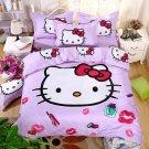 Full Size 4pcs Hello Kitty New Design #05 bedding set duvet cover flat sheet pillow cases