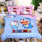 Full Size 4pcs Hello Kitty Doraemon New Design #08 bedding set duvet cover flat sheet pillow cases