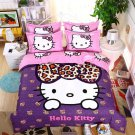 Queen Size 4pcs Hello Kitty New Design #06 bedding set duvet cover flat sheet pillow cases