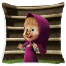 Masha Dolls & Bear #13 Cushion Cover Square Plain  45cm*45cm