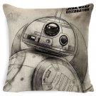 Star Wars Yoda Darth Vader #26 Cushion Cover Square Plain  45cm*45cm