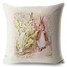 Peter Rabbit #03 Cushion Cover Square Plain  45cm*45cm