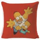 The Simpsons #61  Cushion Cover Square Plain  45cm*45cm