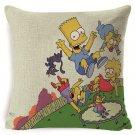 The Simpsons #68 Cushion Cover Square Plain  45cm*45cm