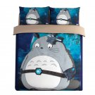 3 pcs King Size My Neighbour Totoro #07 Bedding Set Duvet Cover