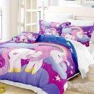 3 pcs Queen Size Unicorn #01 Bedding Set Duvet Cover