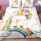 3 pcs Queen Size Unicorn #03 Bedding Set Duvet Cover
