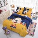 New 4pcs Full Size Disney Mickey #15 Duvet Cover Bed Sheet Flat Sheet Bedding Set