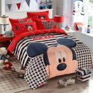 3pcs Twin Size Disney Mickey Mouse #15 Bedding Set Duvet Cover Quilt Cover Pillowcase Bed Sheet
