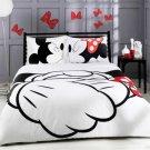 3pcs US Full Size Disney Mickey Mouse #17 Bedding Set valentine duvet cover set