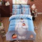4pcs Queen Size Big Hero #02 Bedding Set Duvet Cover Pillowcase Bed Sheet Gift for Christmas