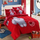 4pcs Queen Size Big Hero #05 Bedding Set Duvet Cover Pillowcase Bed Sheet Gift for Christmas