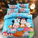 4pcs Queen Size Mickey Mouse #01 Bedding Set Duvet Cover Pillowcase Bed Sheet Gift for Christmas