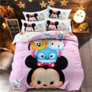 4pcs Queen Size Mickey Mouse #02 Bedding Set Duvet Cover Pillowcase Bed Sheet Gift for Christmas