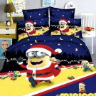 Twin Size 2pcs Minion #06 bedding set duvet cover flat sheet pillow cases for Christmas Gift