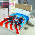 Captain America Marvel Avengers #01 fleece blankets 1400mm*2000mm fleece sleeping throw