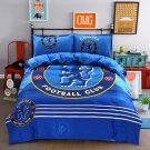 King size 4 pcs Chelsea Footbal Club #01 Kids Bedroom Decor Duvet Cover Bed Sheet Pillow Case