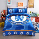 King size 4 pcs Chelsea Footbal Club #02 Kids Bedroom Decor Duvet Cover Bed Sheet Pillow Case