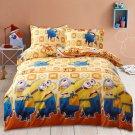 Queen size 4 pcs Minion Despicable Me #10 Kids Bedroom Decor Duvet Cover Bed Sheet Pillow Case