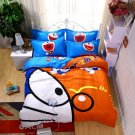 Queen Size 4pcs Doraemon New Design #11 bedding set duvet cover flat sheet pillow cases