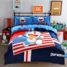 Queen Size 4pcs Doraemon New Design #14 bedding set duvet cover flat sheet pillow cases