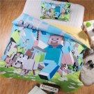 Twin Size Minecraft Steve Cartoon bedding set duvet cover bed sheet pillow cases