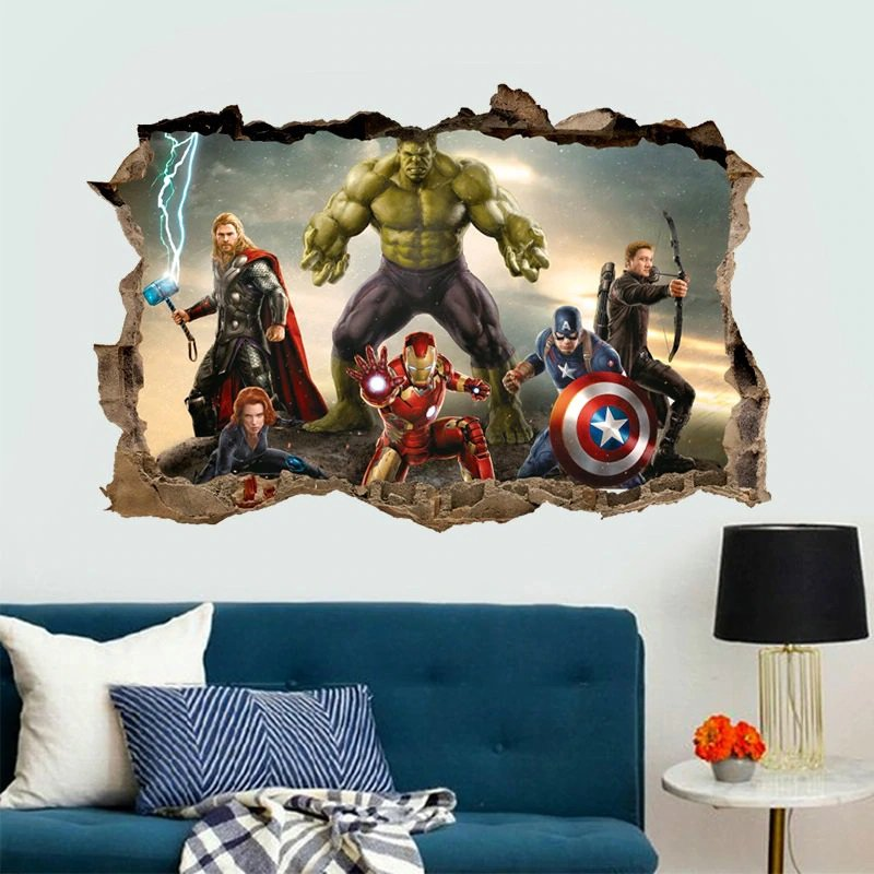 Captain America Marvel Avengers #77 Wall Stickers For Kids Rooms