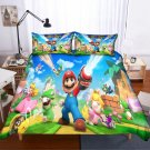2019 Queen Size 3pcs Super Mario #05 bedding set duvet cover pillow cases
