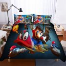 2019 Queen Size 3pcs Super Mario #06 bedding set duvet cover pillow cases