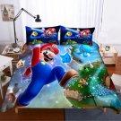 2019 Queen Size 3pcs Super Mario #07 bedding set duvet cover pillow cases