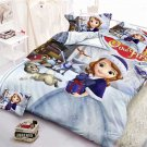 Full Size 3pcs  Sofia The First #05 Cartoon bedding set duvet cover bed sheet pillow cases