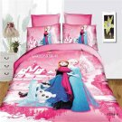 Single Size 3pcs #03 Disney Frozen bedding set duvet cover bed sheet pillow cases