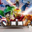 3D Lego Marvel's Avengers Wall Comics 22A Movie Photo Mural Wallpaper