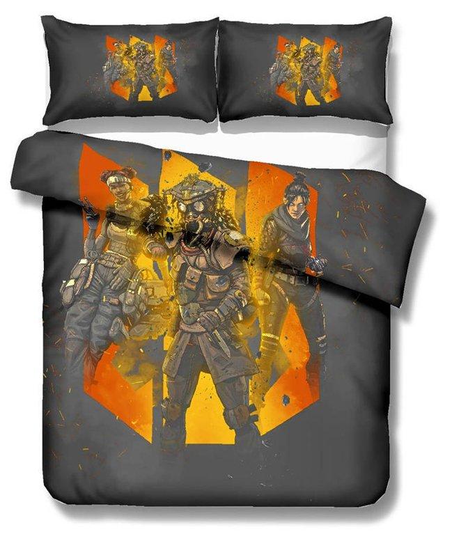 Apex Legends Game Queen Size 3pcs #04 bedding set duvet cover pillow case