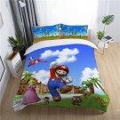 Queen Size 3pcs Super Mario #08 bedding set duvet cover pillow cases