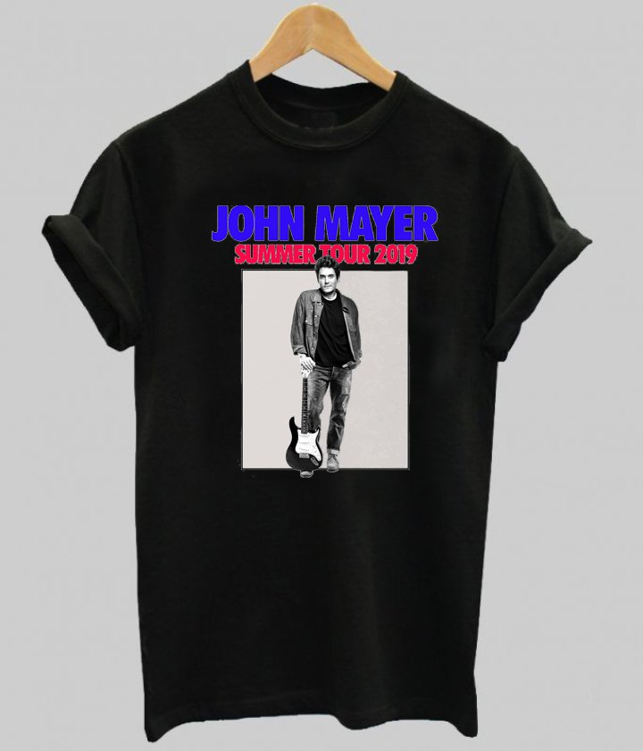 Jhon Mayer Summer Tour 2019 black tee
