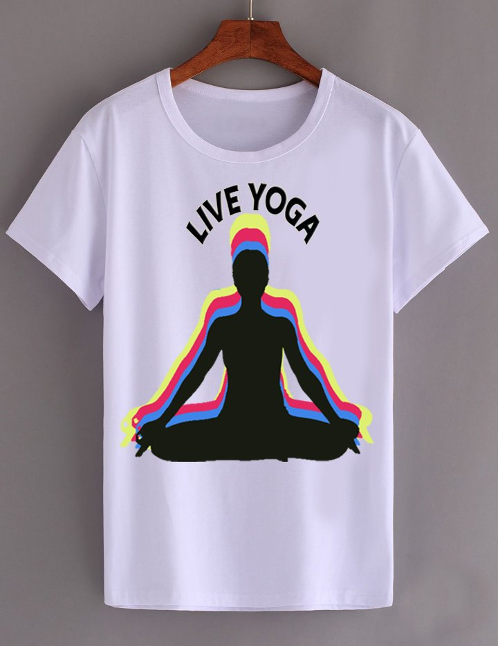 YOGA WHITE T SHIRT FOR SALE