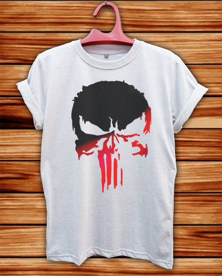 PUNISHER LOGO WHITE TSHIRT