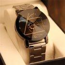 Fashion Luxury Men Women Analog Stainless Steel Compass Wrist Watch