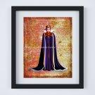 "Evil Queen ~ Snow White & the Seven Dwarfs Dictionary Digital Art Print ~ 8"" x 10"""
