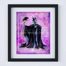 "Maleficent ~ Sleeping Beauty Dictionary Digital Art Print ~ 8"" x 10"""