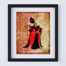 """Jafar ~ Aladdin Dictionary Digital Art Print ~ 8"""" x 10"""""""