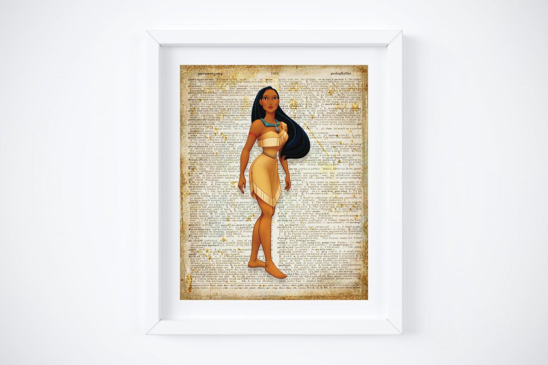 """Pocahontas Dictionary Digital Art Print ~ 8"""" x 10"""""""