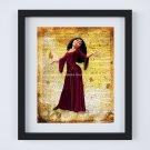 "Mother Gothel - Rapunzel ~ Tangled Dictionary Digital Art Print ~ 8"" x 10"""
