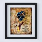 "Robecca Steam ~ Monster High Layered Digital Art Print ~ 8"" x 10"""