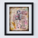 "Rochelle Goyle ~ Monster High Layered Digital Art Print ~ 8"" x 10"""
