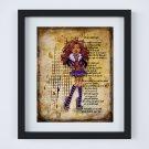 """Clawdeen Wolf ~ Monster High Layered Digital Art Print ~ 8"""" x 10"""""""