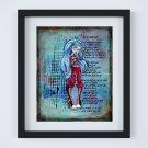 "Ghoulia Yelps ~ Monster High Layered Digital Art Print ~ 8"" x 10"""