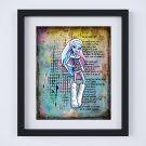 "Abbey Bominable ~ Monster High Layered Digital Art Print ~ 8"" x 10"""